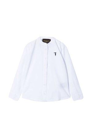 Camicia teen con colletto alla coreana TRUSSARDI JUNIOR TRUSSARDI KIDS | 5032334 | TBP21101CATVWHITET