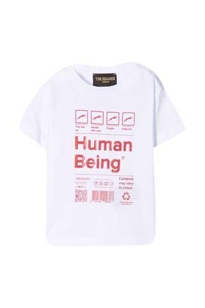 T-shirt with Trussardi kids print TRUSSARDI KIDS | 8 | TIP21052TS9FWHITE/RED