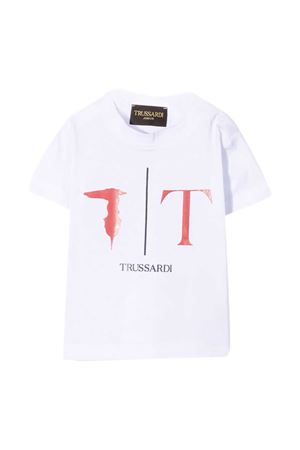 T-shirt with Trussardi kids print TRUSSARDI KIDS | 8 | TIP21054TS9FWHITE/RED