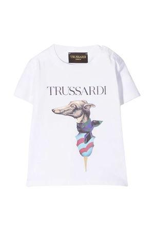 T-shirt with Trussardi kids print TRUSSARDI KIDS | 8 | TIP21059TSLSWHITE