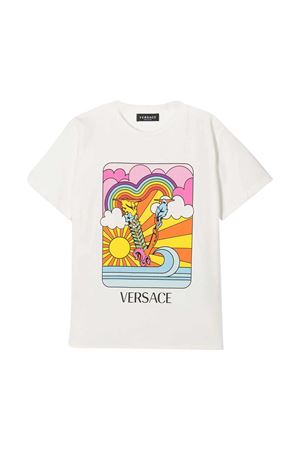 White t-shirt with multicolor print Young Versace YOUNG VERSACE | 8 | 10000521A000522W070
