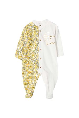 White and gold romper with Young Versace baroque print YOUNG VERSACE | 1491434083 | 10000531A002262W110