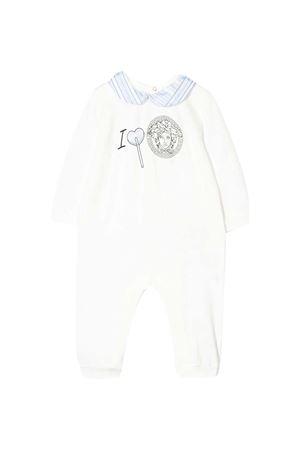 Tutina bianca con dettagli azzurri Young Versace YOUNG VERSACE | 1491434083 | 10000571A000102W050