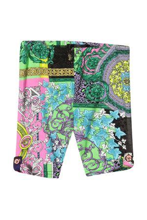 Leggings con stampa multicolor Young Versace VERSACE | 411469946 | 10000641A002705X000