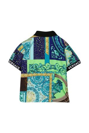 Young Versace blue polo shirt YOUNG VERSACE | 5032334 | 10000851A002975V010