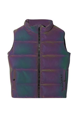 Purple padded vest with Young Versace print YOUNG VERSACE | 38 | 10001161A000622X000