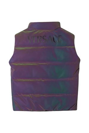 Gilet viola imbottito con stampa Young Versace YOUNG VERSACE | 38 | 10001161A000622X000