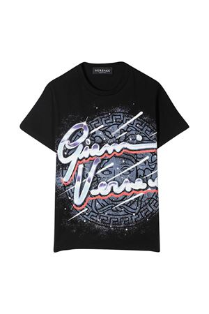 T-shirt nera con stampa Young Versace YOUNG VERSACE | 8 | 10001291A000192B070