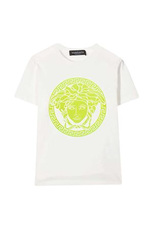 White t-shirt with multicolor print Young Versace YOUNG VERSACE | 8 | 10001291A000592W200