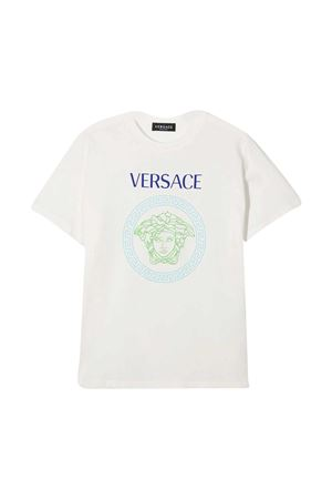 White t-shirt with multicolor press Young Versace YOUNG VERSACE | 8 | 10001291A003136W100