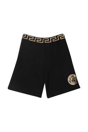 Black shorts with golden print Young Versace YOUNG VERSACE | 30 | 10003461A002292B130
