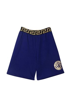Blue shorts with golden details Young Versace YOUNG VERSACE | 30 | 10003461A002292U100
