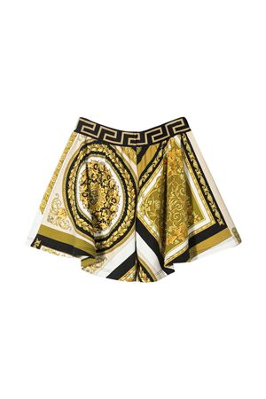 Shorts con stampa barocca Young Versace YOUNG VERSACE | 30 | 10003631A002655W060