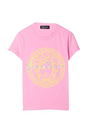 T-shirt rosa con stampa Young Versace YOUNG VERSACE | 8 | 10003661A003416P090