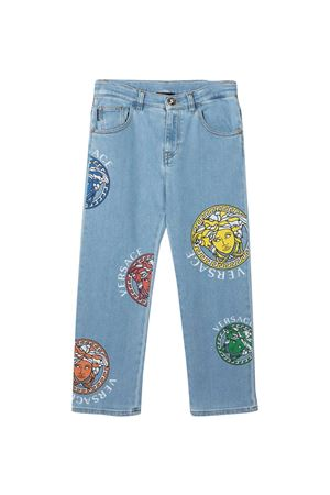 Jeans dritti con stampa Medusa Young Versace YOUNG VERSACE | 9 | 10004951A004112D100