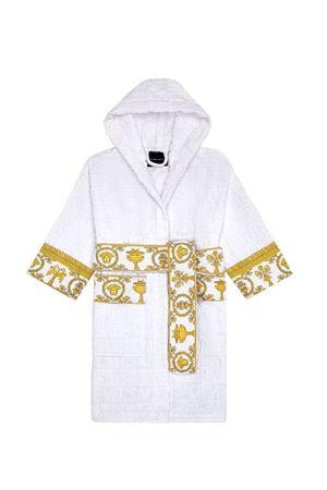 Accappatoio bianco con dettagli barocco Young Versace YOUNG VERSACE | 44 | ZACJYNG01ZCOSP052Z4001