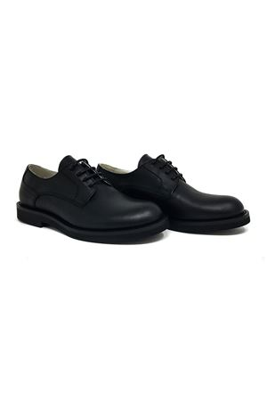 BLACK LEATHER TEEN SHOES