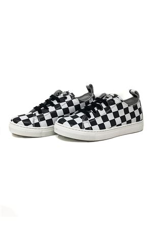 SNEAKERS WITH WHITE AND BLACK CHESSBOARD DSQUARED2 KIDS | 12 | 54242KIPSDAMIER