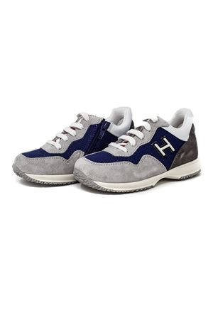 SNEAKERS INTERACTIVE JUNIOR COLOR GRAY, BLUE AND WHITE HOGAN KIDS | 12 | HXT0920V311IBQ739D