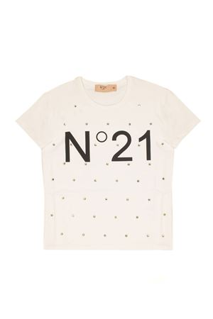 Pink logo-embroidered t-shirt N°21 Cheap Sale New Styles Outlet Best Sale Discount Sast Professional Sale Online Prices Cheap Online oP2ca