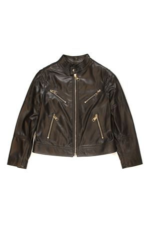 LEATHER LIGHTWEIGHT JACKET WITH FRONTAL CLOSURE AND SIDE POCKETS WITH ZIP NEIL BARRETT KIDS | 13 | 013109110