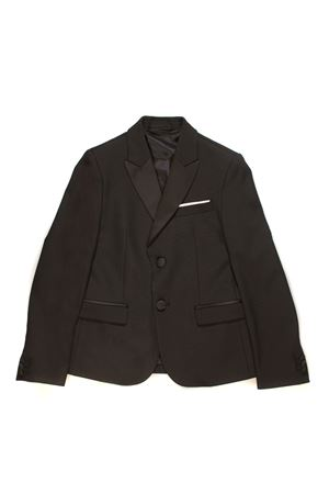 BLACK JACKET WITH CENTRAL BOTTONS NEIL BARRETT KIDS | 3 | 013110110
