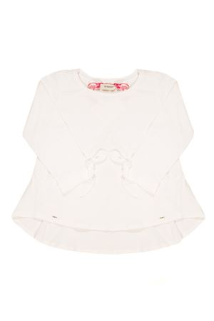 WHITE SHIRT WITH BOW ON SLEEVES Pinko | 8 | 1A110JY4AMZ04