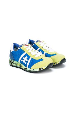 Green and blue  sneakers  Premiata for baby boy  Premiata | 12 | LUCY0013PISTACCHIO/AVIO