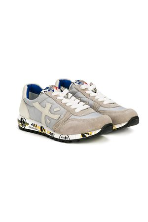 Grey Teen Sneakers Premiata model Mick with White Details  Premiata | 12 | MICK0761GRIGIOT