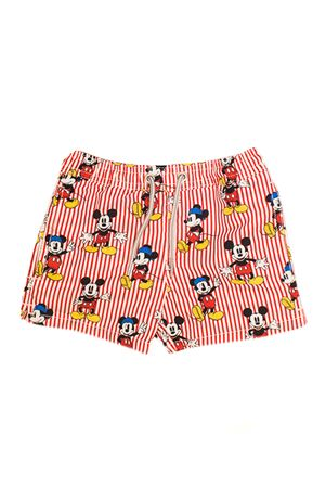 RED TEEN  SWIMSUIT WITH MICKEY MOUSE PRESS SAINT BARTH | 85 | JEANDHMIL41T