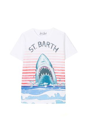 White t-shirt with multicolor frontal press Saint Barth SAINT BARTH | 8 | TSHIRTBOYSHST01