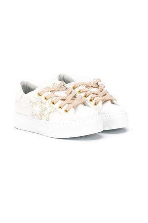 WHITE AND GOLD SNEAKERS 2STARS KIDS TEEN 2Star kids | 90000020 | 2SB1442TBIANCO/ORO
