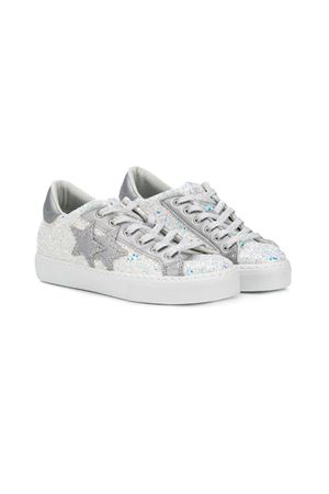 WHITE SNEAKERS 2STARS KIDS TEEN  2Star kids | 12 | 2SB1444TBIANCO/SILVER