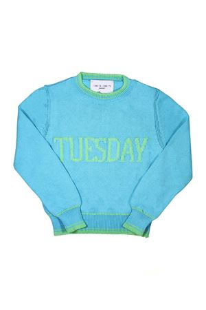 BLUE WEDNESDAY GIRL SWEATER ALBERTA FERRETTI KIDS Alberta ferretti kids | 7 | 019293051
