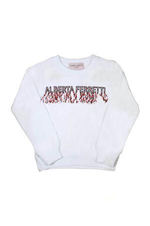 GIRL WHITE SWEATSHIRT ALBERTA FERRETTI KIDS Alberta ferretti kids | -108764232 | 019532002
