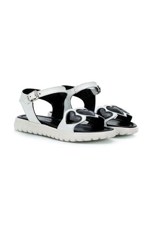 GIRLS SANDALS WHITE AND BLACK MONTELPARE KIDS andrea montelpare | 12 | 60051PIUMA