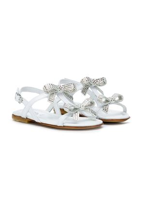MONTELPARE KIDS TEEN WHITE SANDALS  andrea montelpare | 12 | 60134TGLOSSY
