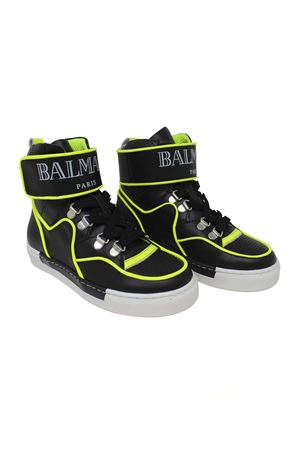 HIGH BLACK SNEAKERS BALMAIN KIDS TEEN BALMAIN KIDS | 12 | 6K0516KX360T930GL