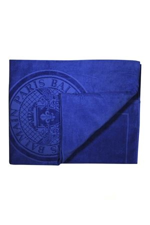 BLUE BEACH TOWEL WITH LOGO BALMAIN KIDS | 54 | 6K0659KX530613