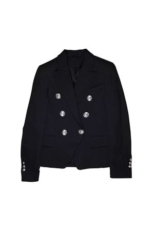 BLACK DOUBLE BREASTED BALMAIN KIDS TEEN JACKET BALMAIN KIDS | 3 | 6K2064KC920T930
