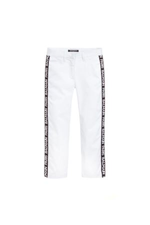 WHITE BALMAIN KIDS LONG PANTS  BALMAIN KIDS | 9 | 6K6051KC650100