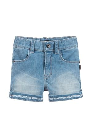 NEWBORN BERMUDA IN DENIM LIGHT BLU BOSS KIDS  BOSS KIDS | 5 | J04343Z25