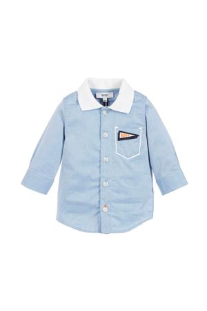 NEWBORN BLUE SHIRT BOSS KIDS  BOSS KIDS | 6 | J05688N48