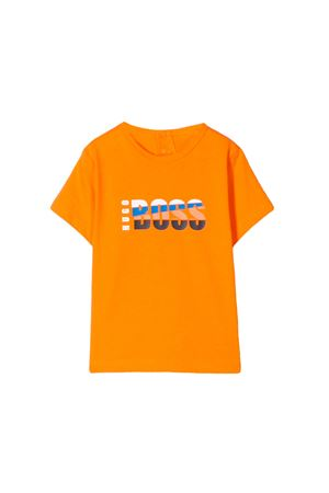 ORANGE NEWBORN BOSS KIDS T-SHIRT  BOSS KIDS | 8 | J05716417