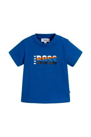 BLUE NEWBORN T-SHIRT BOSS KIDS BOSS KIDS | 8 | J0571676N