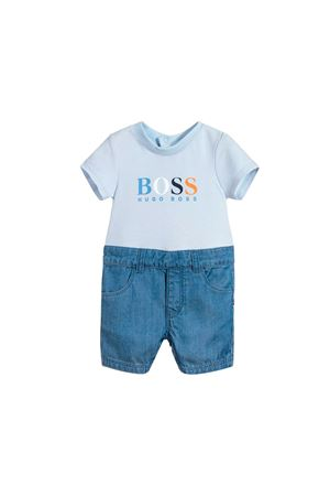 WHITE BABY SUIT AND DENIM BOSS KIDS BOSS KIDS | 1491434083 | J94223771
