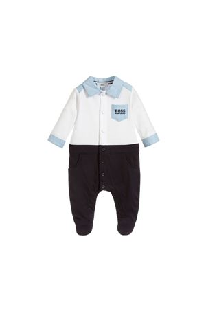WHITE AND BLUE NEWBORN BOSS KIDS SUIT BOSS KIDS | 1491434083 | J97136N68