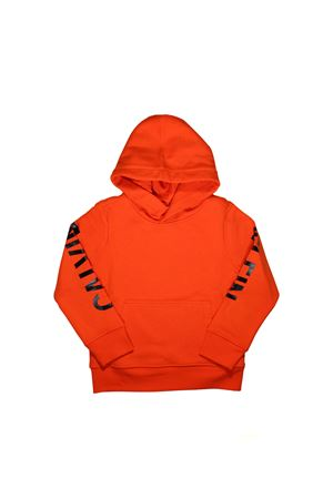 ORANGE SWEATSHIRT WITH HOOD CALVIN KLEIN KIDS  CALVIN KLEIN KIDS | 5032280 | IB0IB00012601