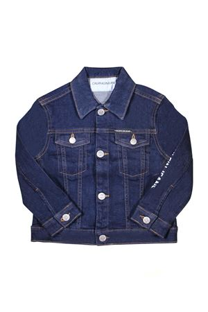 MAGLIA IN DENIM SCURO CALVIN KLEIN KIDS CALVIN KLEIN KIDS | 7 | IB0IB00058911