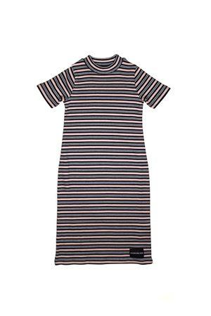 MAXI DRESS WITH COLORED STRIPS CALVIN KLEIN KIDS TEEN CALVIN KLEIN KIDS | 7 | IG0IG00035T099